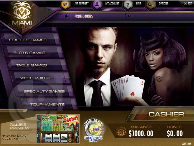 Miami Club Casino Login