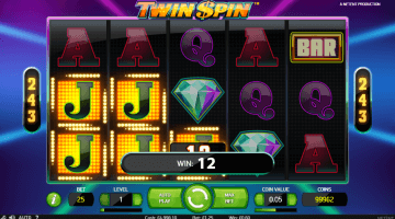 50 Free Spins Twin Spin