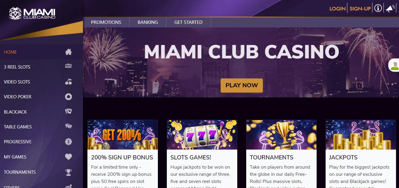 miami club casino new design