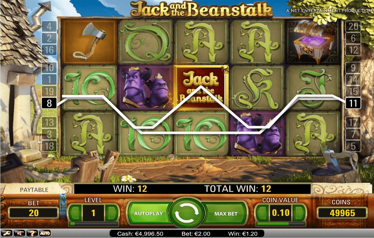 Jack And The Beanstalk Slots - Play ... - vegasslotsonline.com