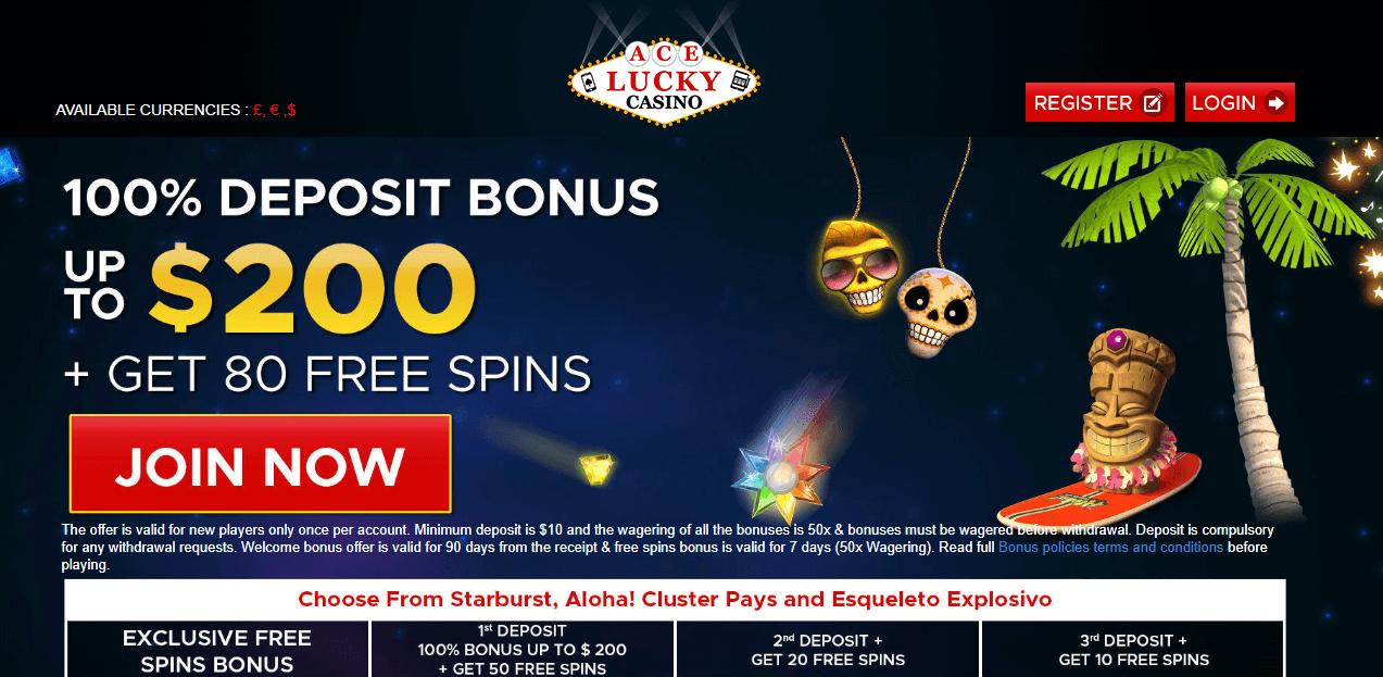 Acelucky Casino Free Spins Amp Bonus 2019 Yummyspins