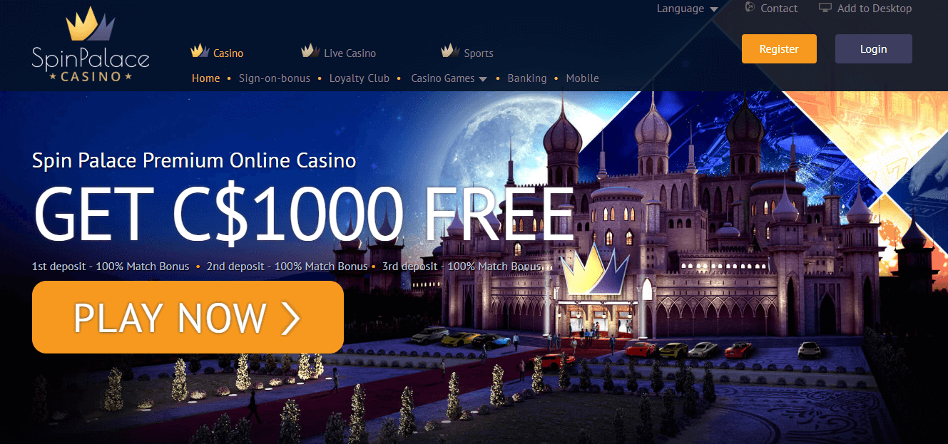 Spin Palace Casino Bonus Codes