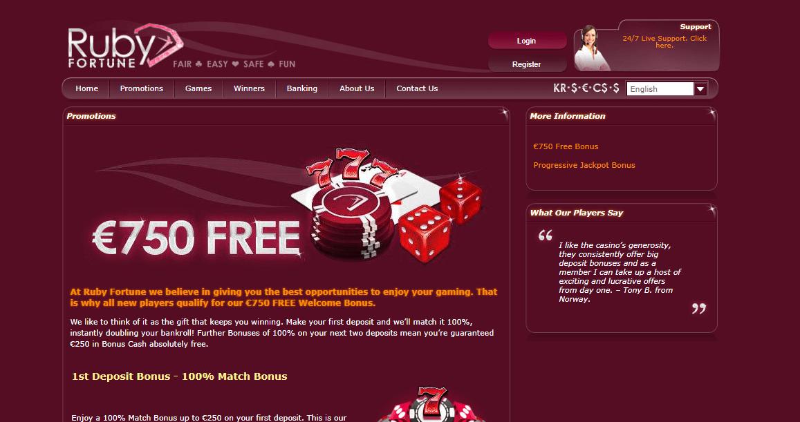 casino deposit bonus codes