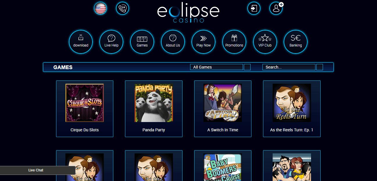 Eclipse Casino No Deposit Bonus 2021