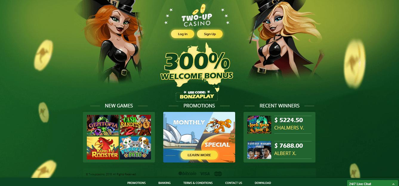 Two-Up Casino Free Spins & Bonus 2019   YummySpins