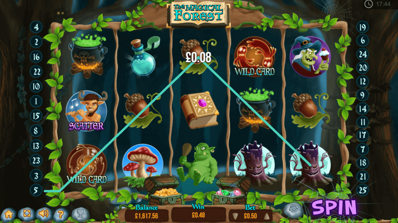 the magical forest slot play with 10 free spins bonus yummyspins
