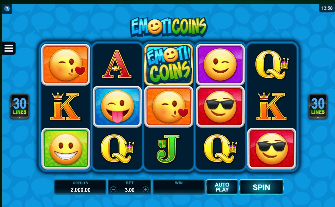 Emoticoins slot: Play with $2,250 Free Bonus! - YummySpins