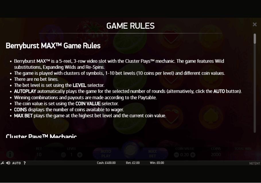 Spiele Berryburst Max - Video Slots Online