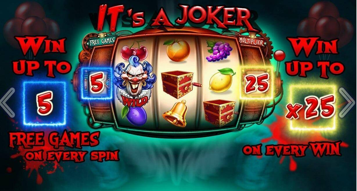 Its A Joker slot: Play with 20 Free spins Bonus! - YummySpins