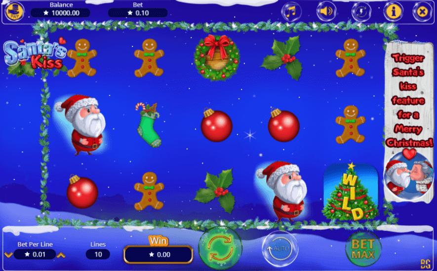 Santas Kiss Slot Machine