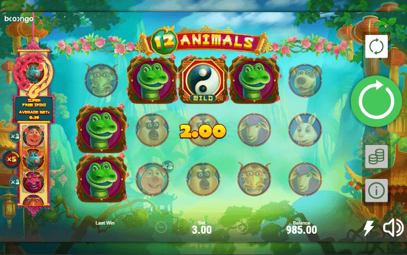 12 animals slot machine online booongo hot tournaments