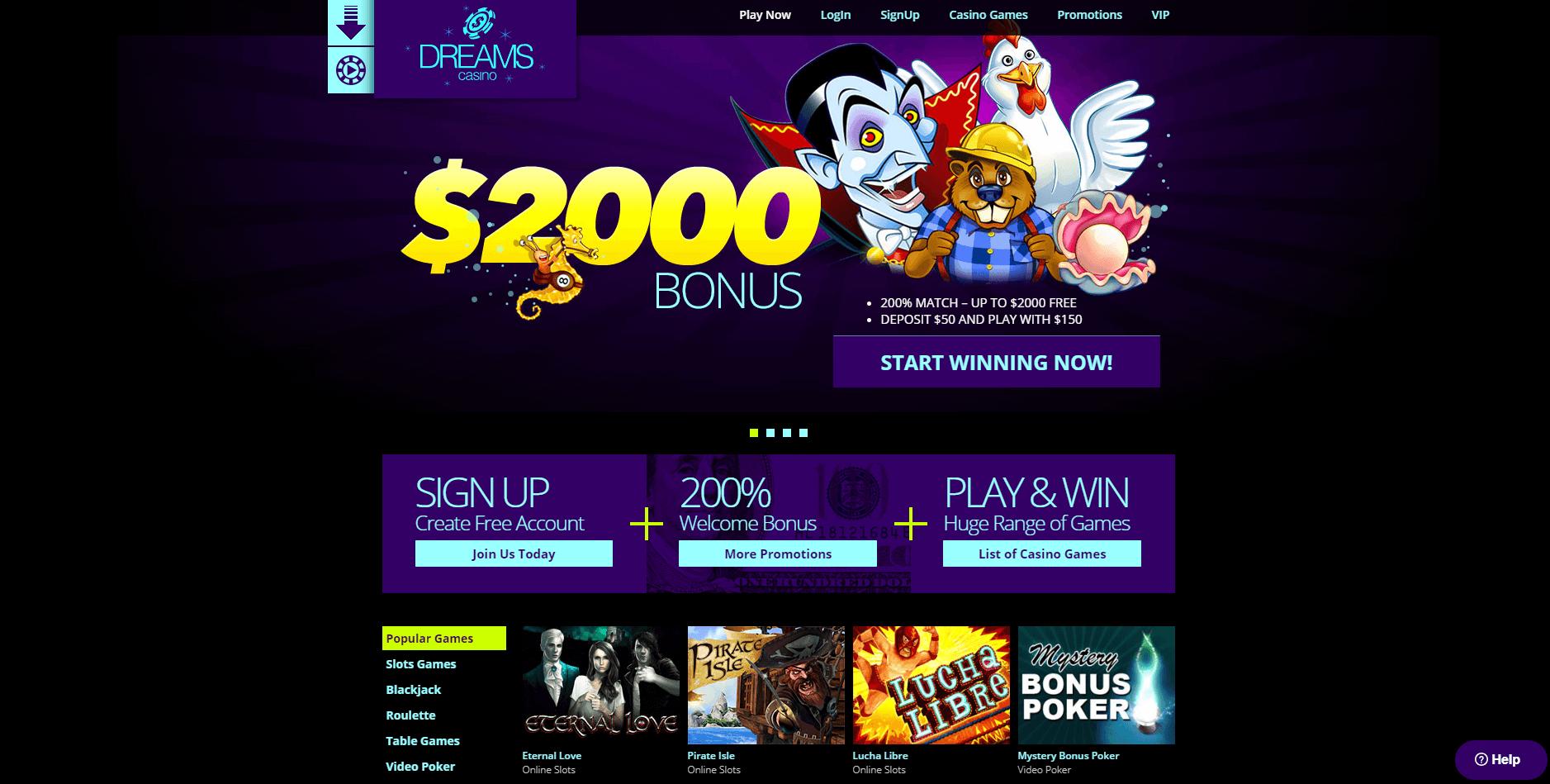 Dreams Casino Free Spins Bonus 2020 Yummyspins