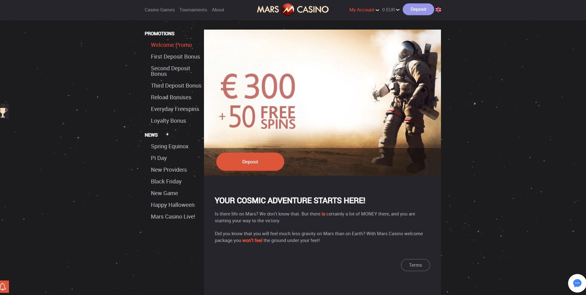 Mars Casino Free Spins & Bonus 2019   YummySpins
