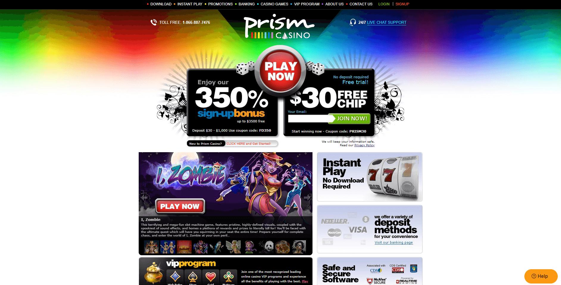No Deposit Bonus Codes Prism