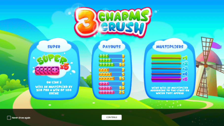 Spiele 3 Charms Crush - Video Slots Online