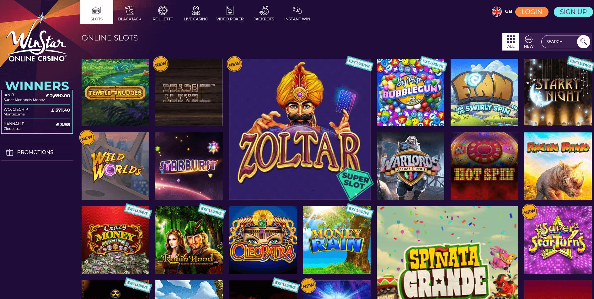 Winstar Online Slots
