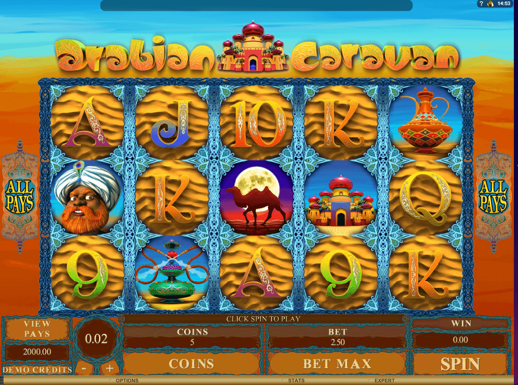 Arabian caravan slot machine online images