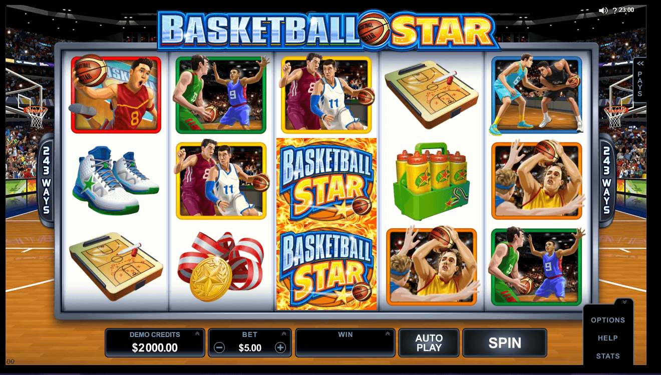 Play No Download Basketball Star Slot Machine For Free