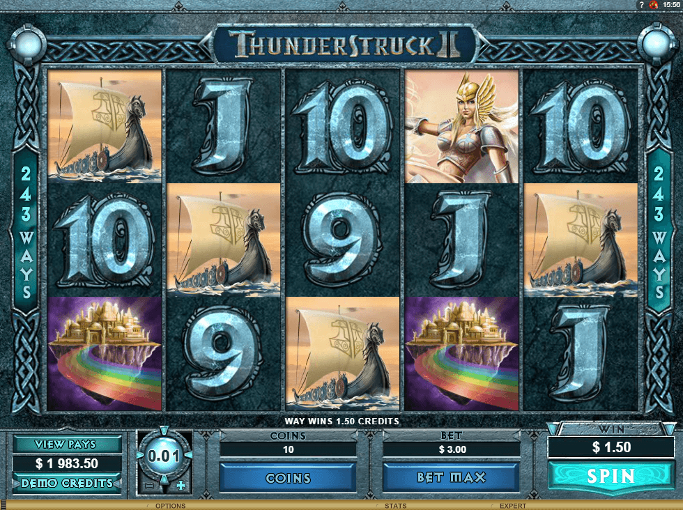 Thunderstruck Ii Mobile Slot
