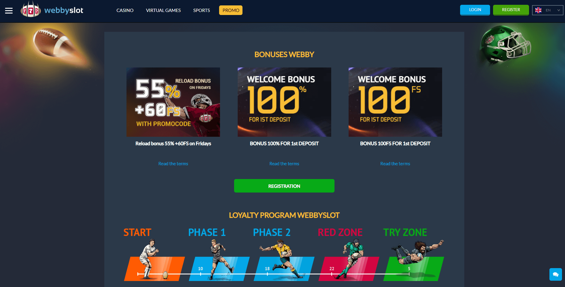 Webby Slot No Deposit Code