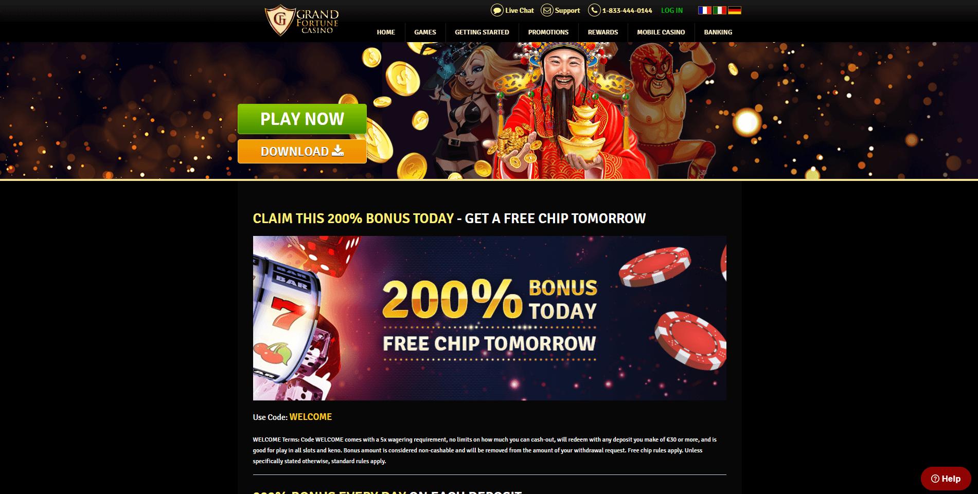 Grand Fortune Casino Free Spins Bonus 2020 Yummyspins