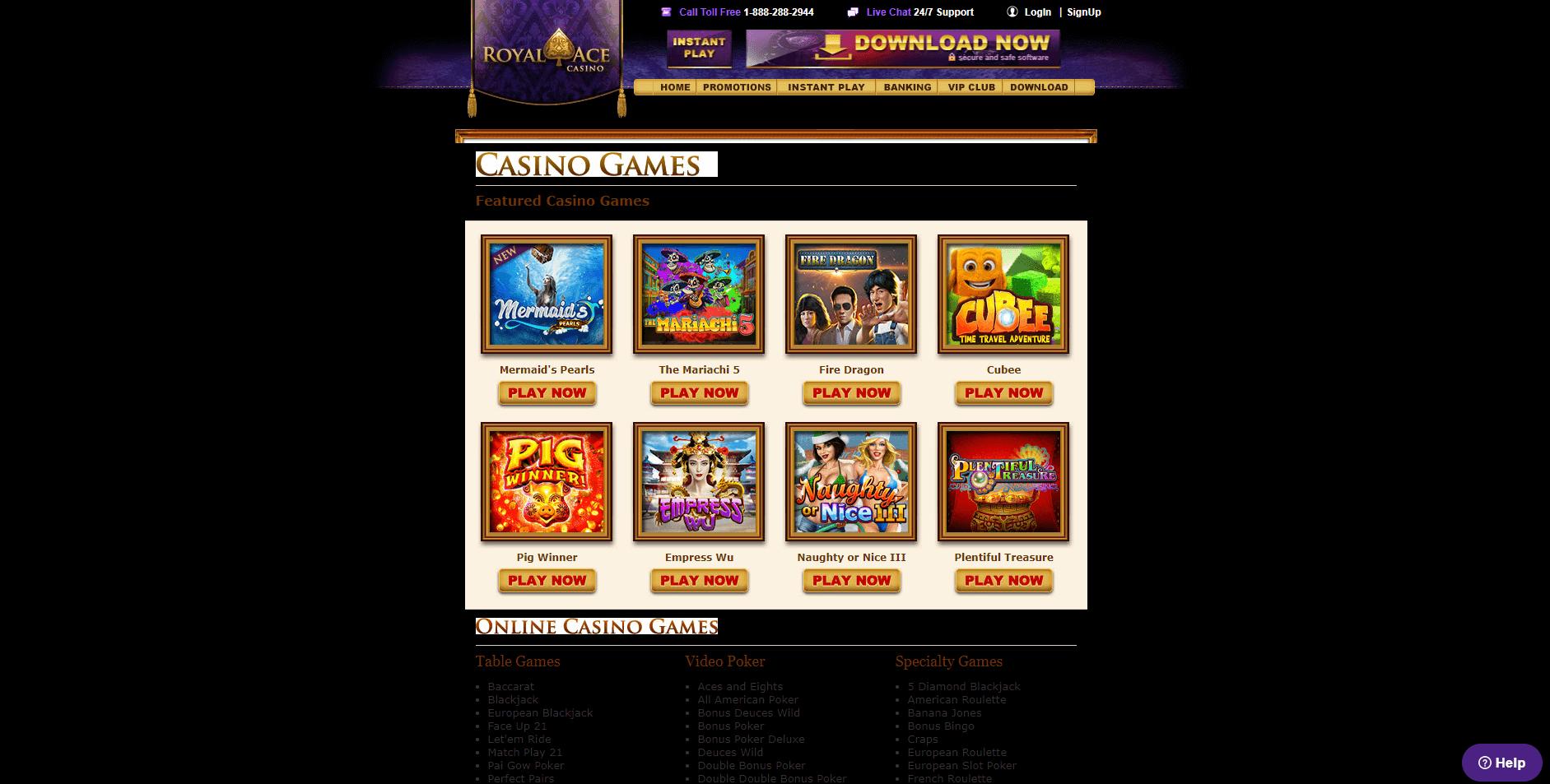royal ace casino $100 no deposit bonus codes 2018