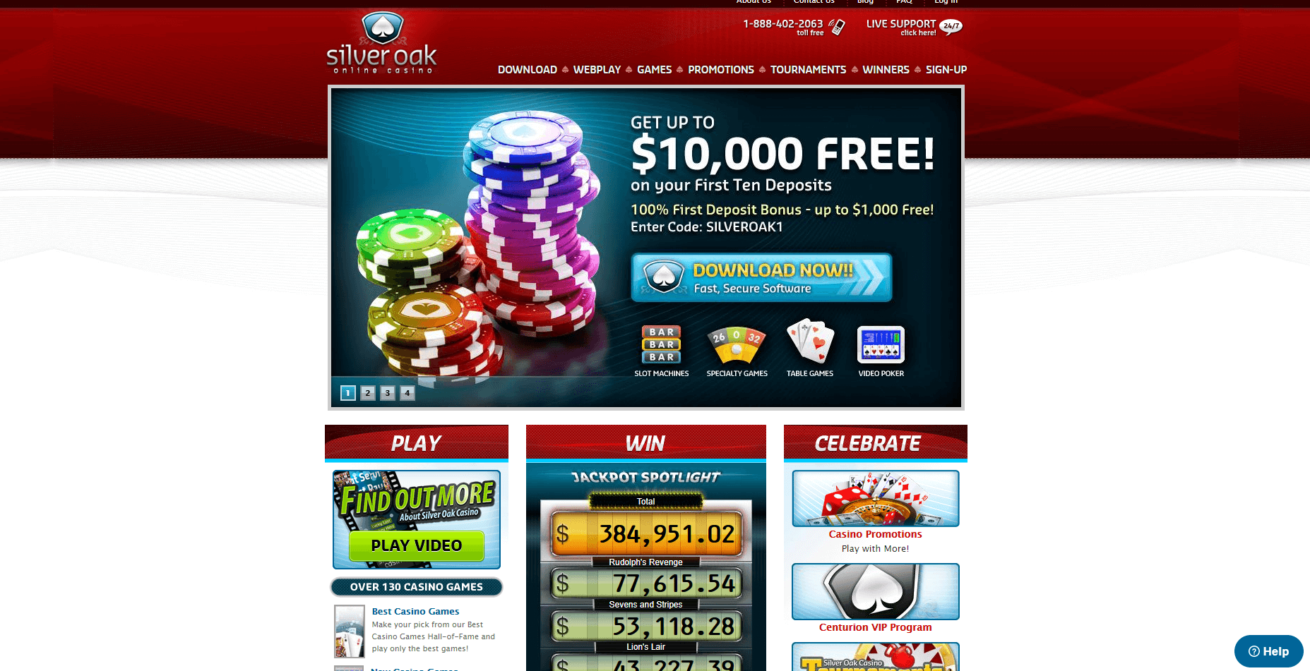 Free Spins Silver Oak Casino
