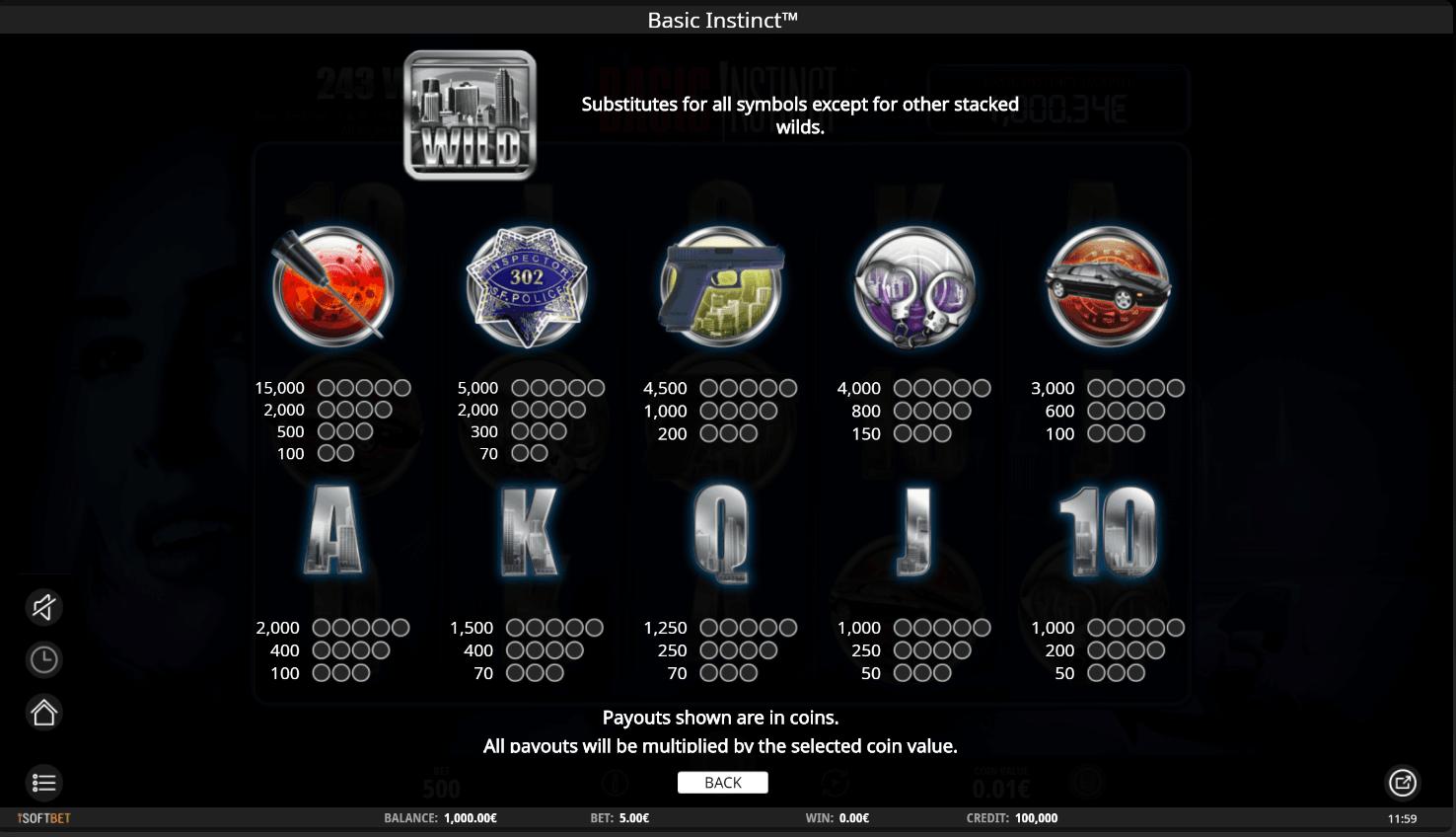 Spiele Basic Instinct - Video Slots Online