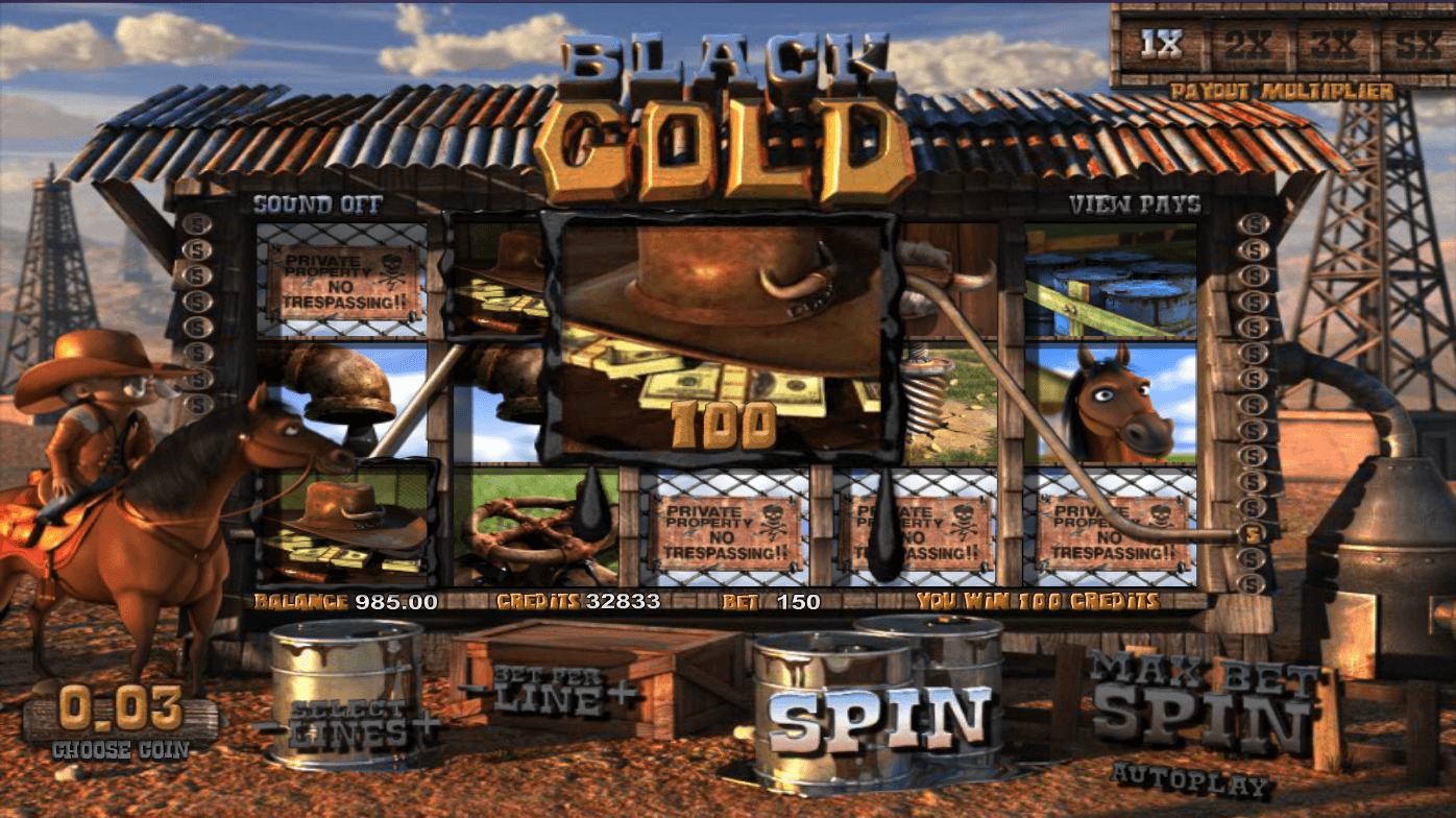 Play the Black Gold Slots with No Download for Fun