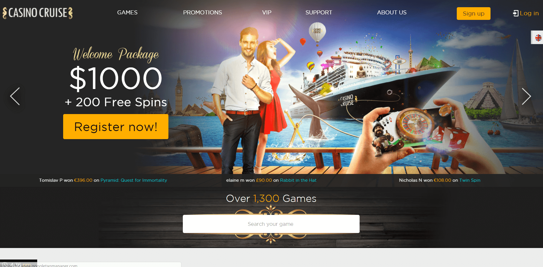 Casino Cruise Free Spins