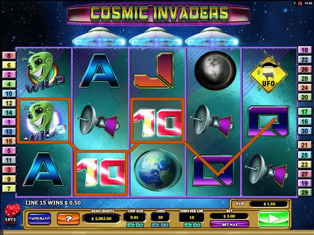 Roller cosmic invaders slot machine online 2by2 gaming login hunter macau