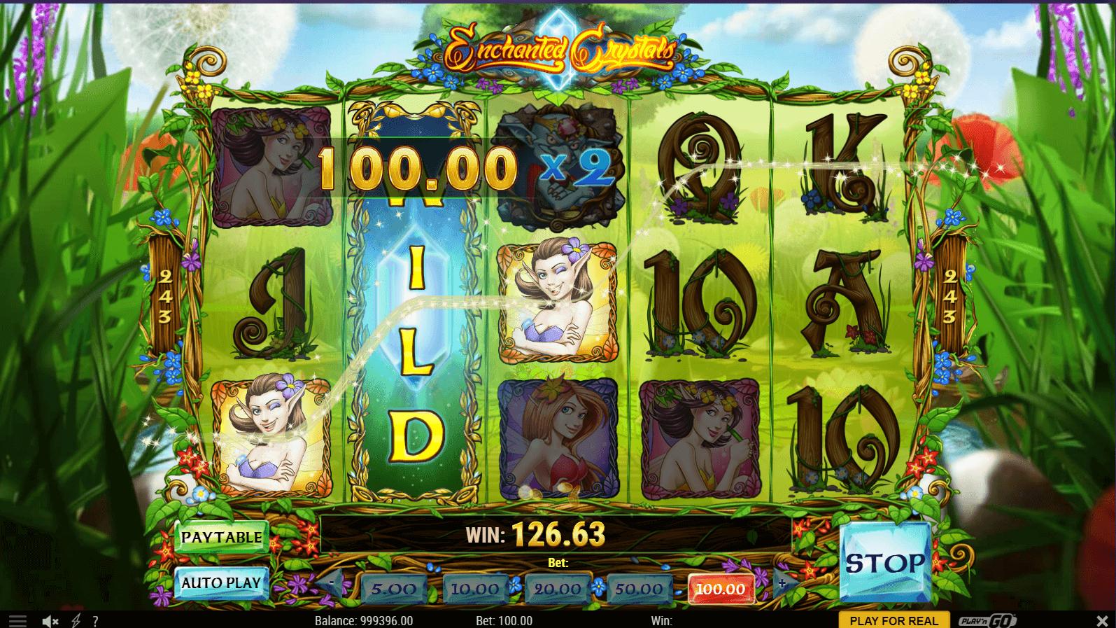 Enchanted Crystals Slot Machine