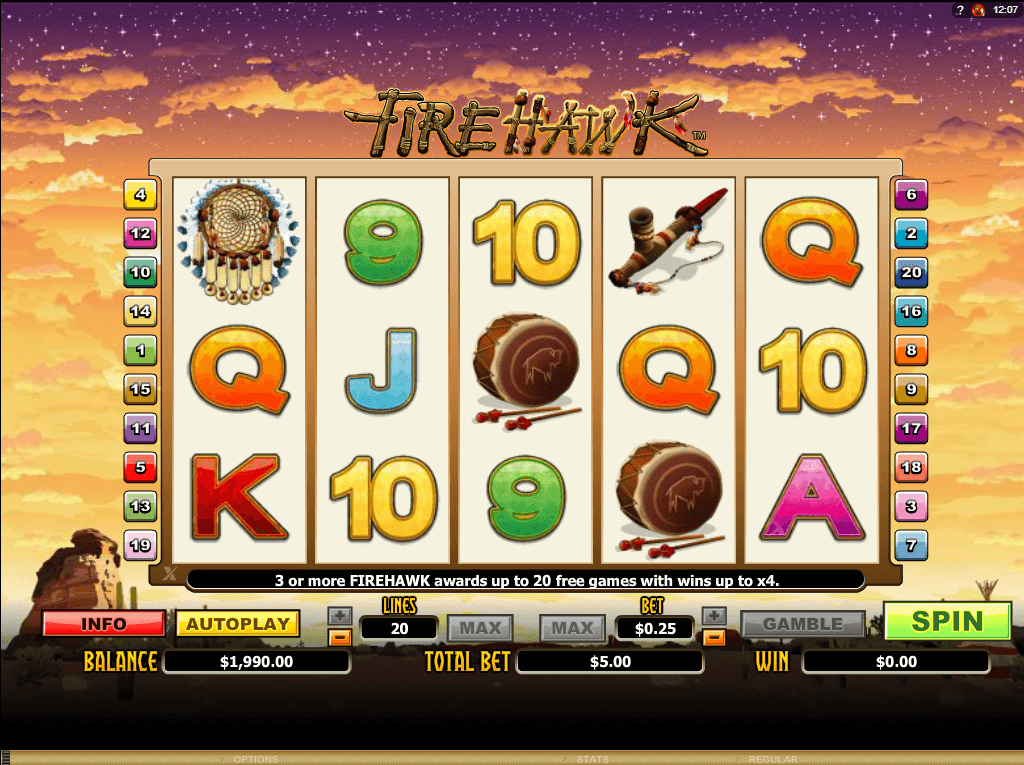 Check Out the Fire Hawk Slots with No Download