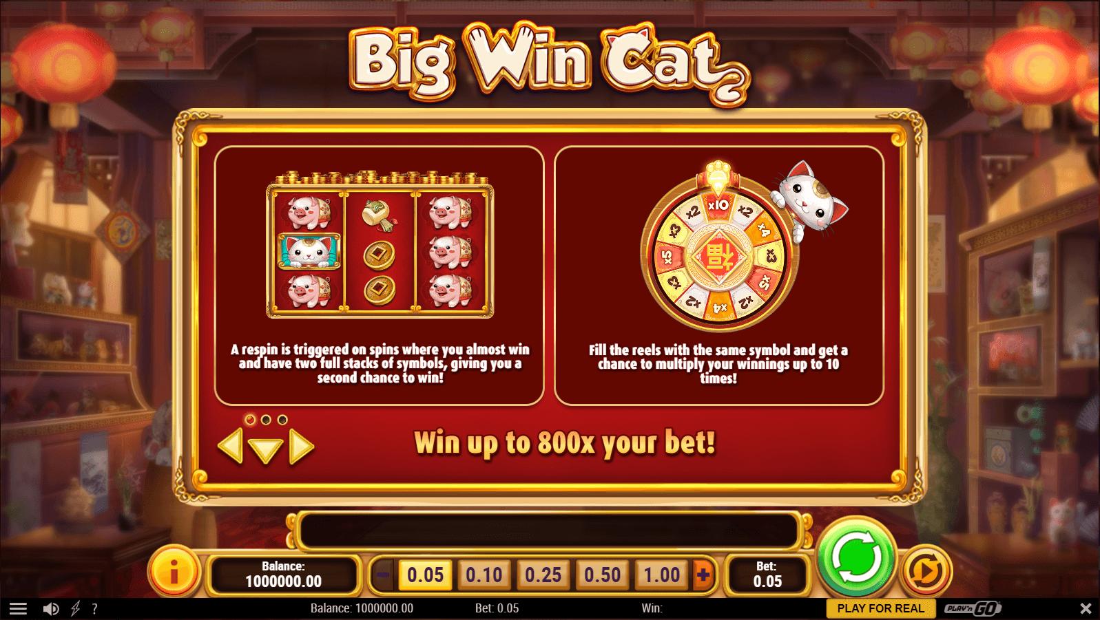 Big Win Cat Slot Machine