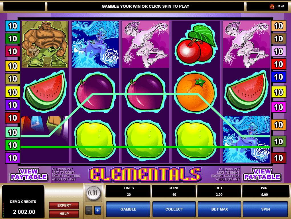 Elementals Slot Machine