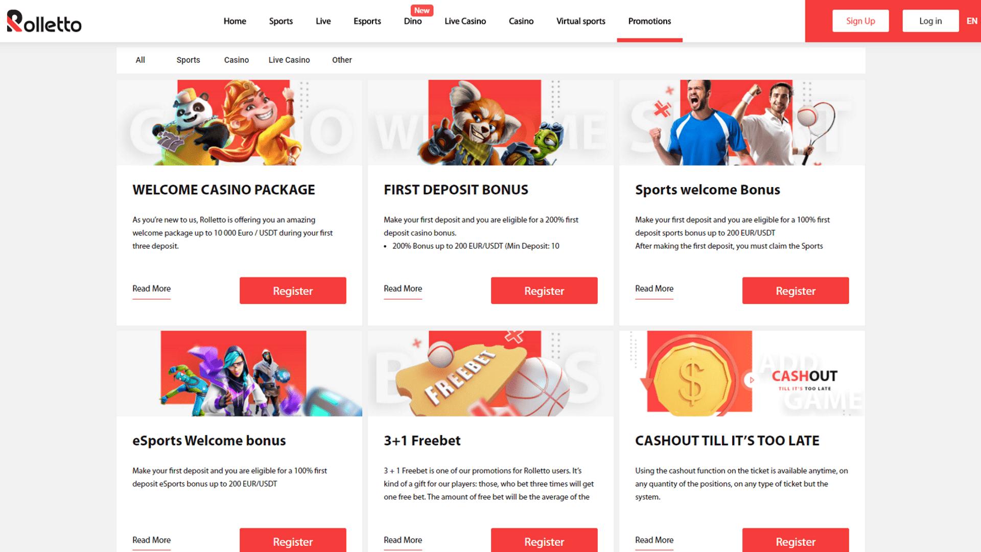 Rolletto Casino Bonus Codes 2021