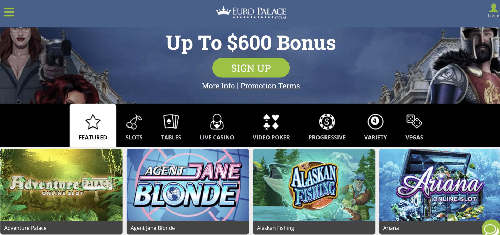 Euro Palace Casino Bonus Code